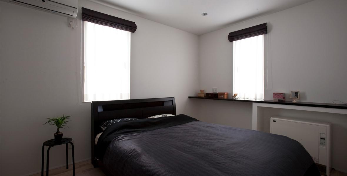 スタイリッシュな寝室