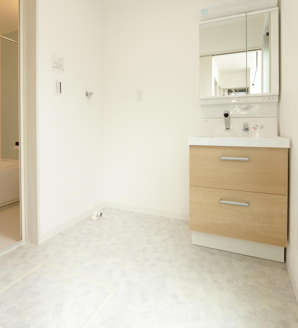 清潔感のある洗面スペース