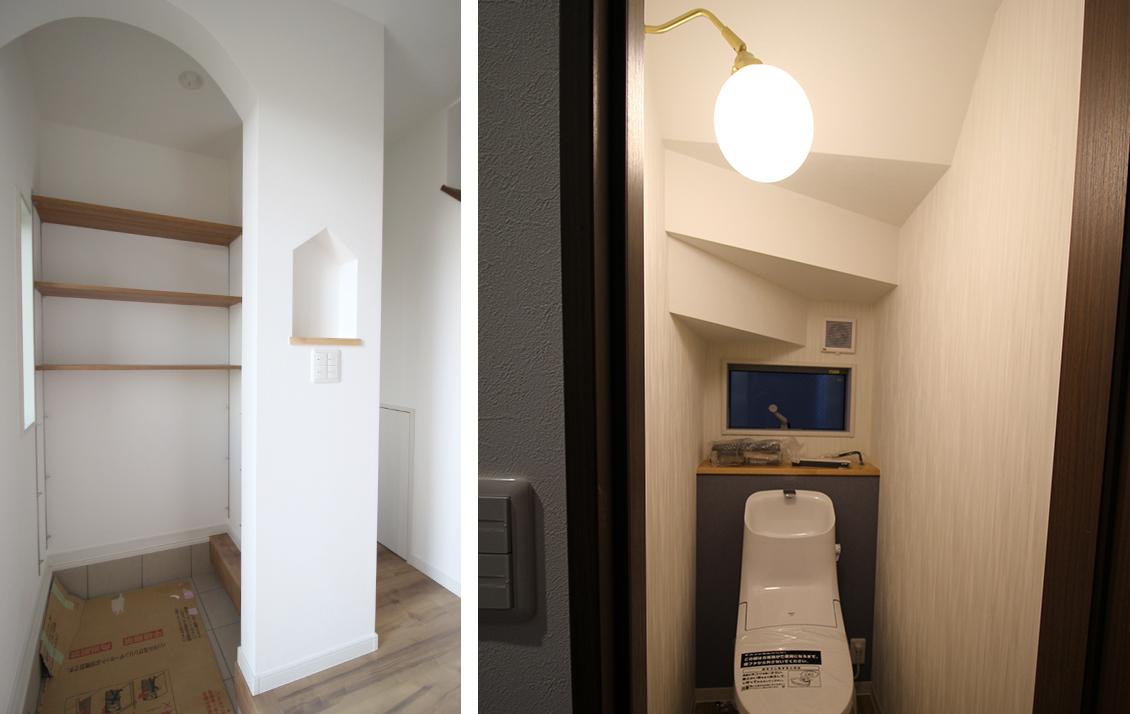 玄関とトイレ