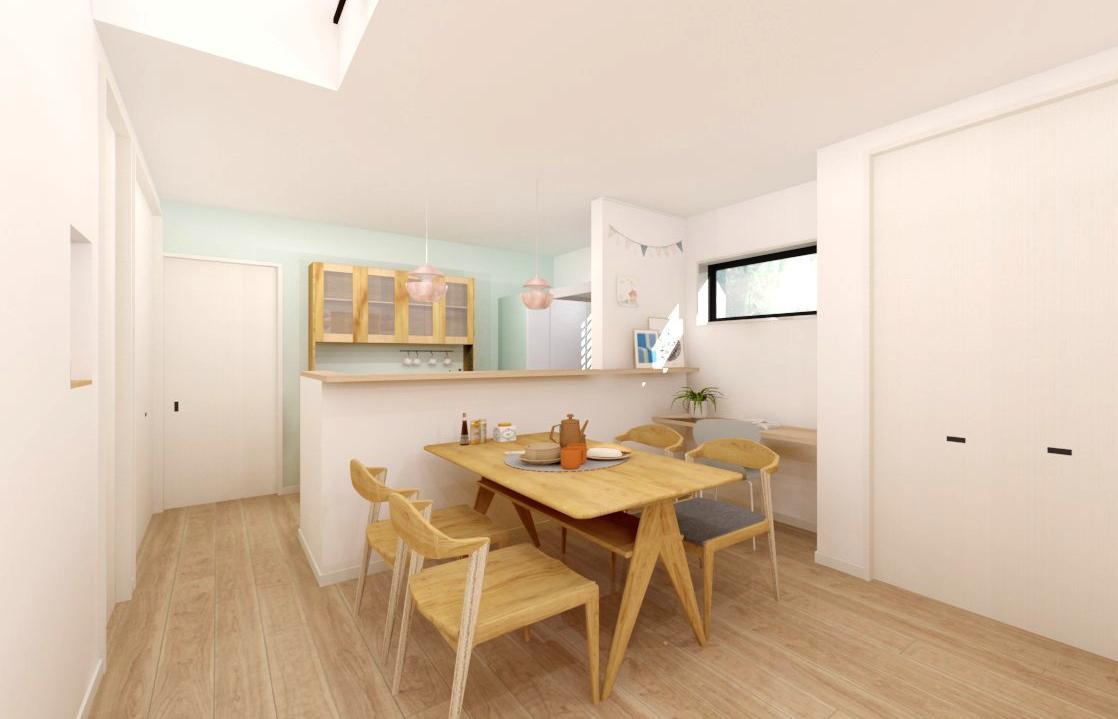適材適所の収納ですっきり爽やかに暮らす家