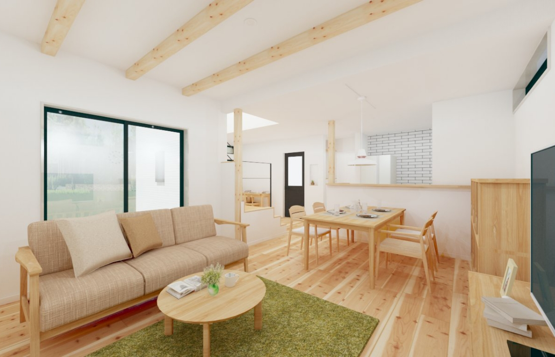 杉の香りに包まれたシンプルスタイルの家~高気密・高断熱住宅~| アトリエ・クラッセ 一級建築士事務所