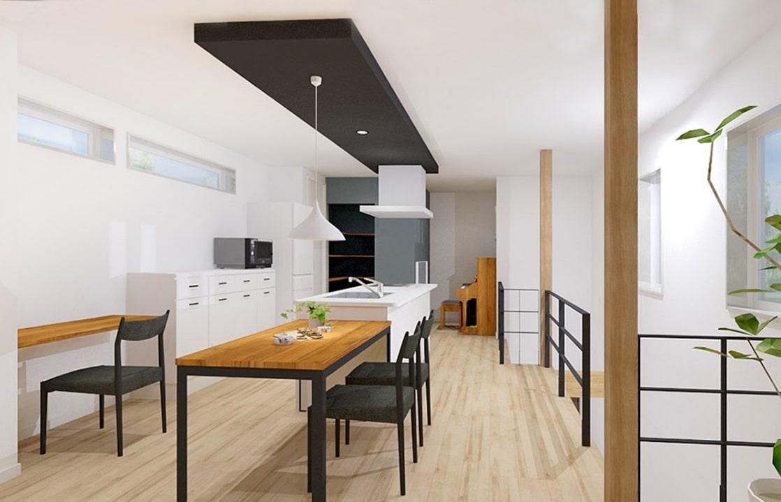 光と共に暮らすシンプルデザインの家   クラッセ住宅販売株式会社