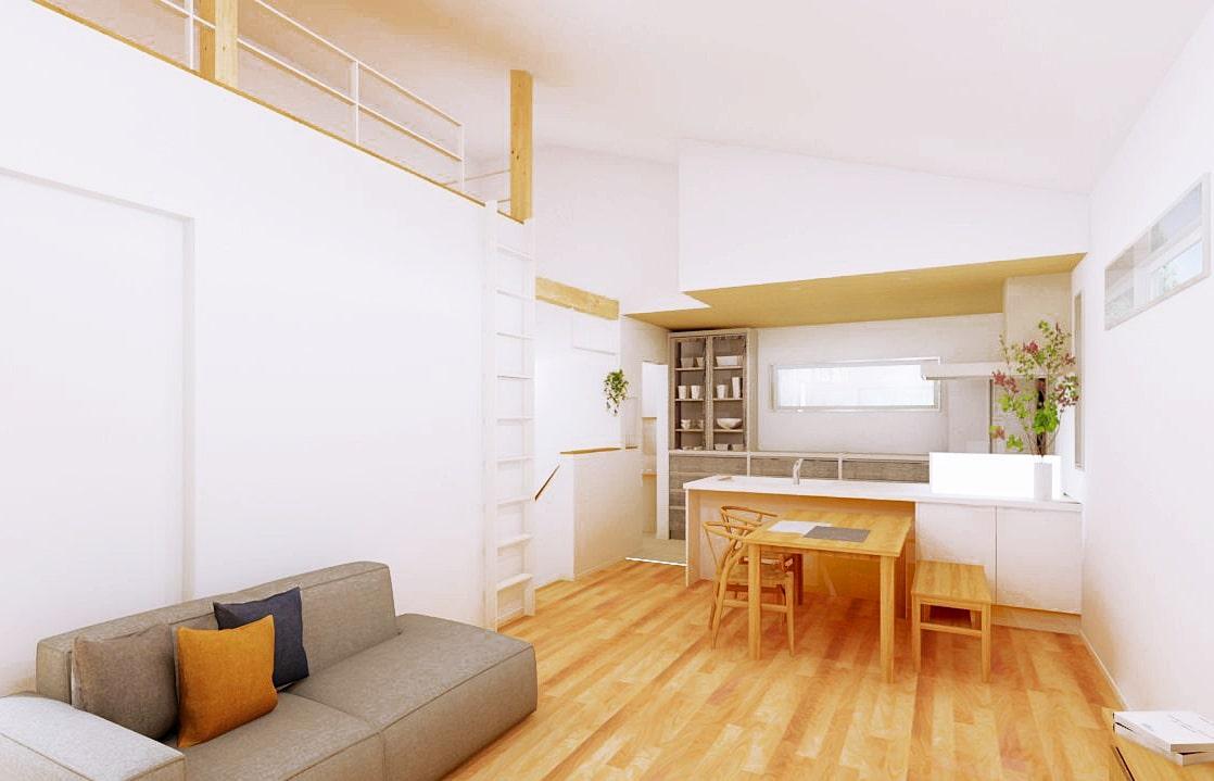 勾配天井のある2階リビング&ロフトで 快適に暮らす家   クラッセ住宅販売株式会社
