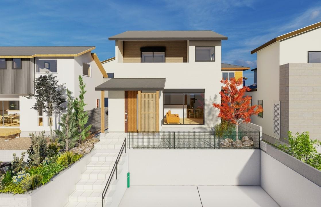 空を眺める高台の家   クラッセ住宅販売株式会社